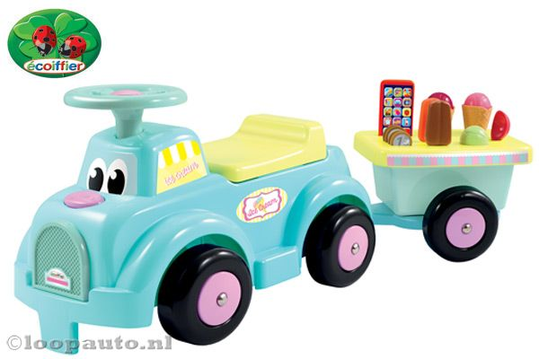 Ice cream loopauto met aanhanger