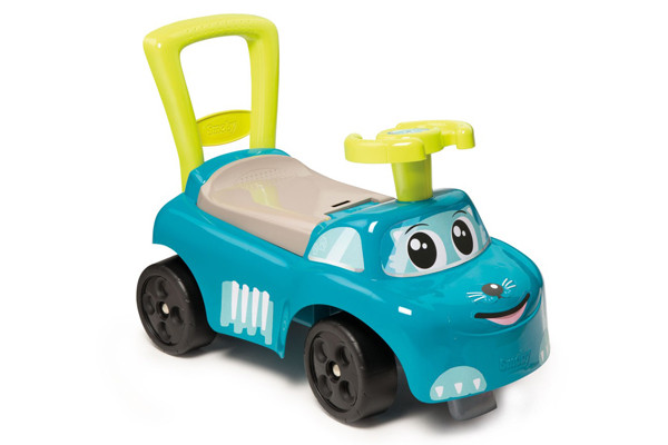 Ride-on blauwe loopauto van Smoby.